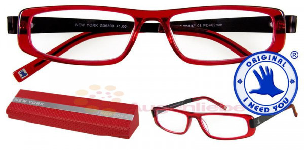 New York Design Acétate rouge-noir