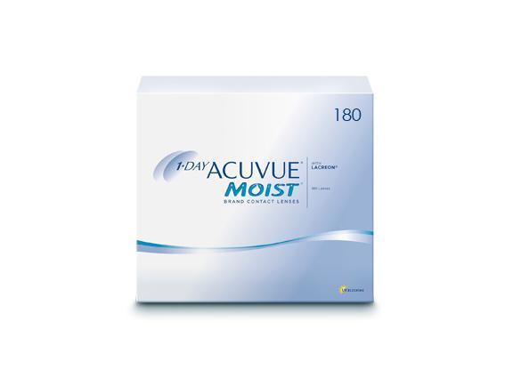 1-Day Acuvue Moist (180 lentilles)